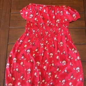 Red American eagle dress